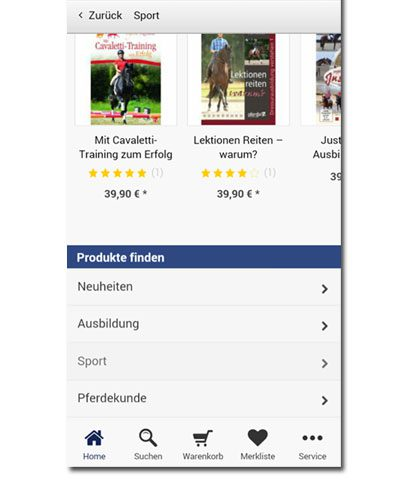 pferdia-shopping-app