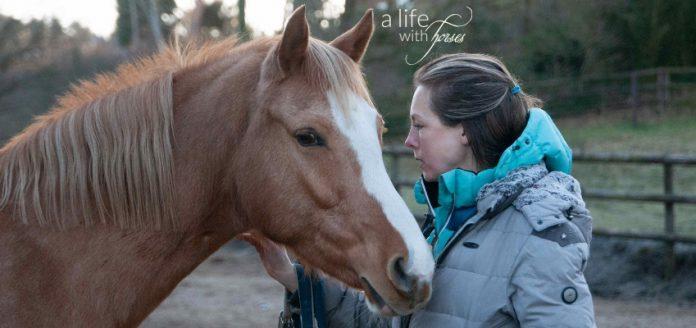Frau und Pferd Portraitfoto