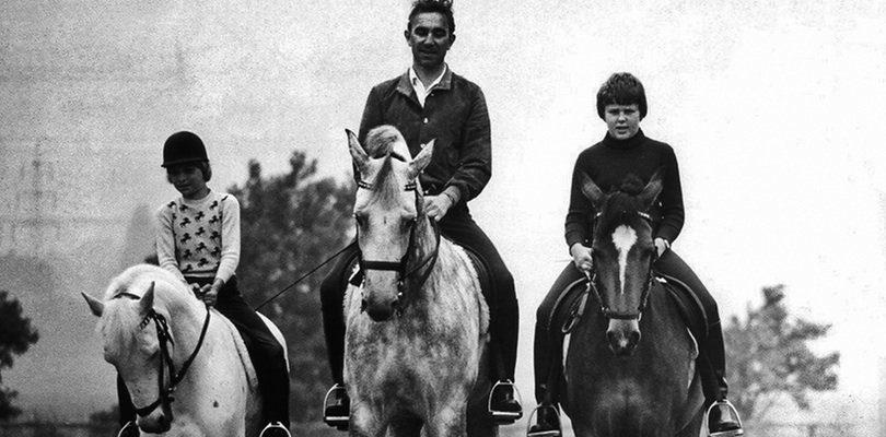 Reiner Klimke mit seinen Kindern Ingrid Klimke und Rolf Klimke