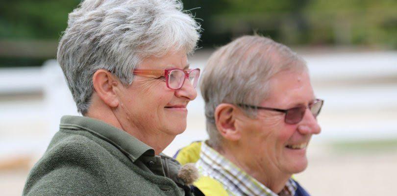 Die Trainer Eckart Meyners und Sibylle Wiemer.