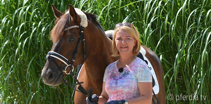 Porträt Britta Schoeffmann, Expertin zum Thema Pferd rollt sich ein