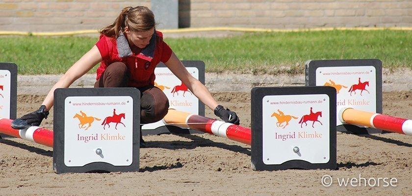 Lunging training cavaletti distances - Ingrid Klimke