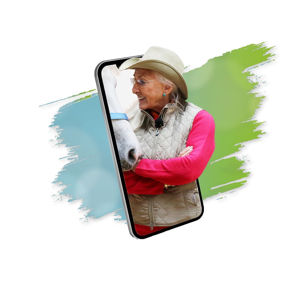 Founder of the TTouch Method and wehorse Trainer Linda Tellington-Jones