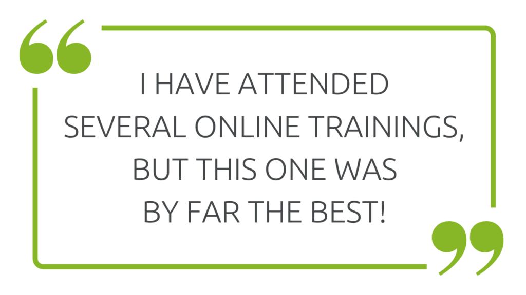 Testimonial for the wehorse Online Festival - best online training
